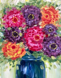 PaintNite - Zinnias in a Mason Jar @ Desert Wind Winery | Prosser | Washington | United States